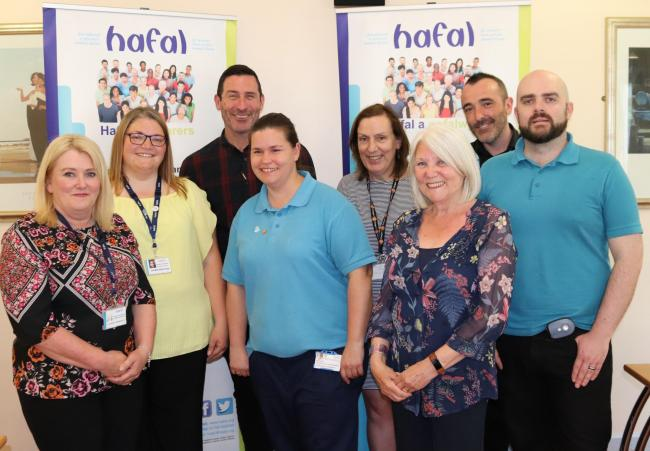 Ablett Unit and Hafal staff involved in the drop in service