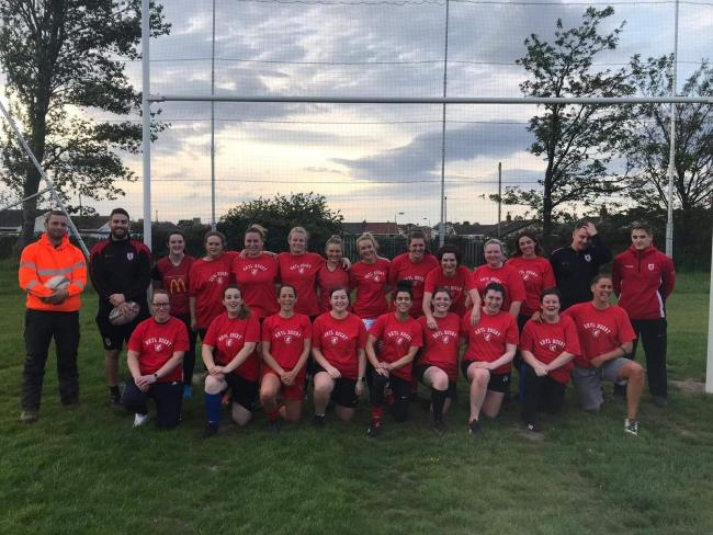 Rhyl and District Rugby Club women's squad