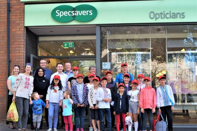The 14 Chernobyl children visit Specsavers for the seventh year