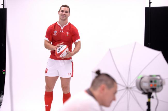Anglesey's very own George North models the new kit. PICTURE: WRU