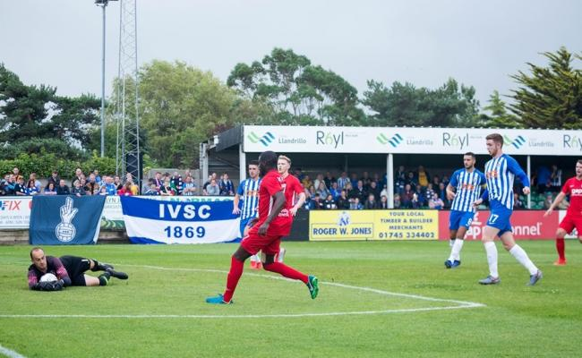 Kilmarnock took on Connah's Quay Nomads at the Rhyl FC's Educate Group Stadium. Picture: Nik Mesney - NCM Media