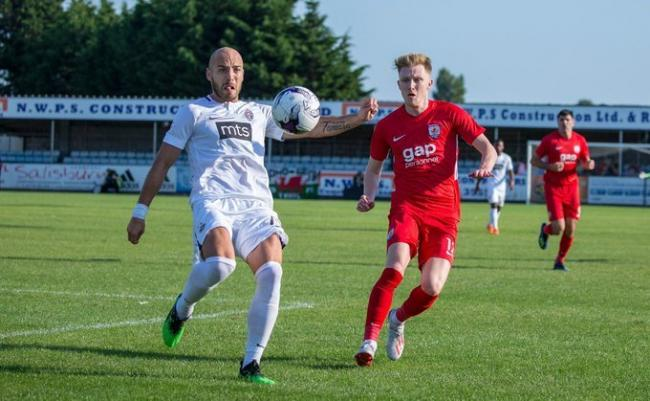 Rhyl FC played host to Connah's Quay Nomads' clash against Partizan Belgrade (Photo by Nikitas Mesney)