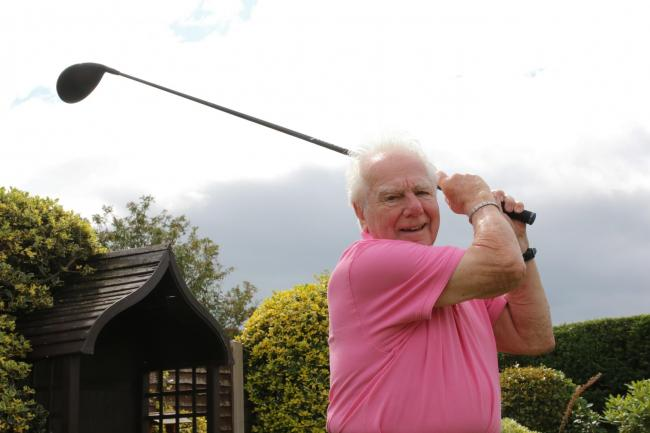 Dennis Chamberlain of Abergele achieved the second hole in one of his life at the age of 94 last week. PICTURE: Kerry Roberts