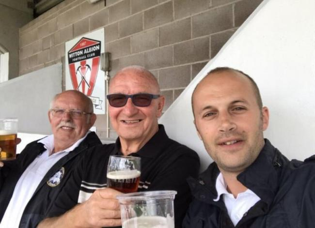 Former Rhyl manager Terry Murphy (centre) died last Saturday