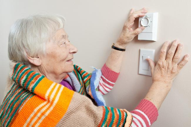 Older people are urged to keep warm in the winter