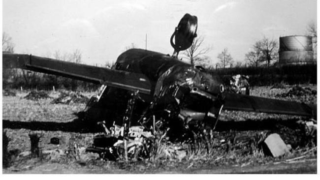 A Lancaster Bomber which crashed in 1945, killing five of the seven crew members. There is no photographic evidence of Mr Williams' crash