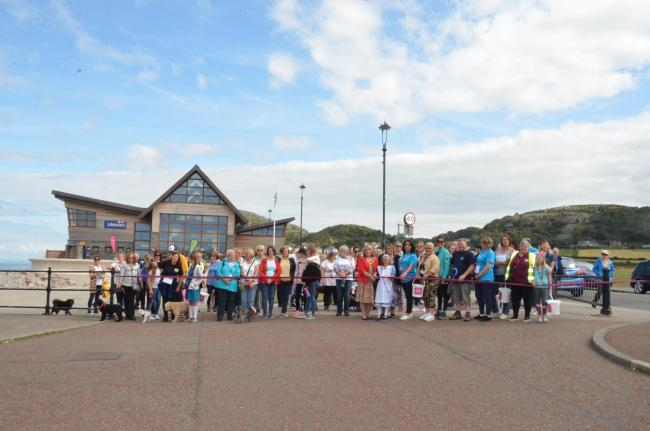 The annual memory walk welcomed 261 people to Llandudno promenade