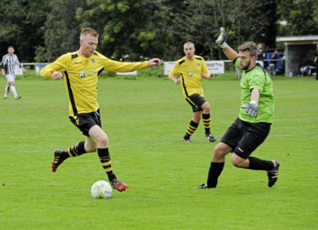 Paul Fleming in action for St Asaph City