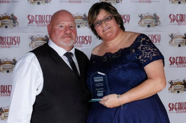 Allan and Karen Webster receiving their award last year.