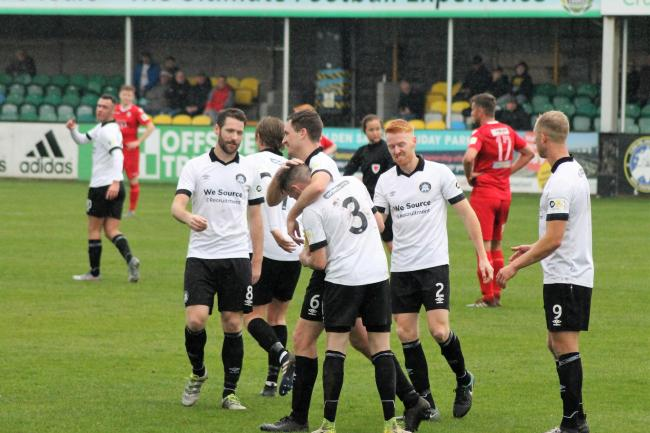 Rhyl secured a comfortable home win over Llangefni Town (Photo by James Curran)