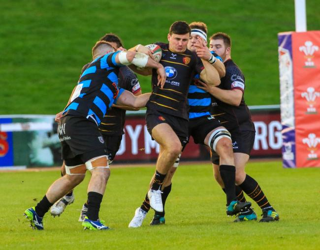 Harri Evans opened the scoring for RGC against Llanelli (Photo by Tony Bale)
