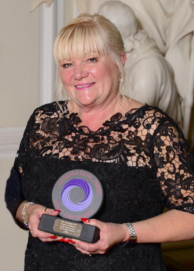 Joyce Bellingham, business manager at St Kentigern Hospice, with her award