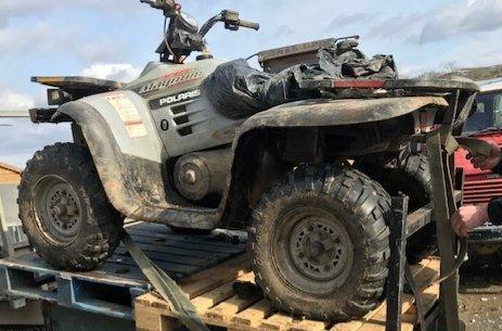 The quad bike stolen from Prion in August. Picture: Rural Crime Team/Twitter