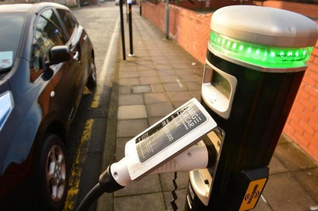 Denbighshire is stalling on introducing electric car charging points, according to a new government league table exposing gaps in the UK's electric infrastructure