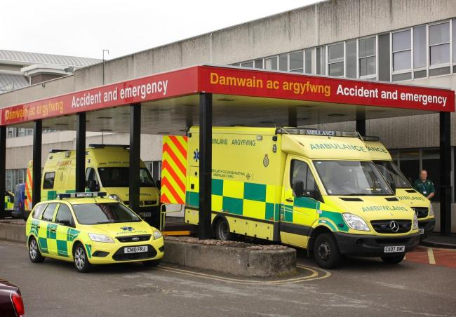 A&E entrance at Glan Clwyd Hospital