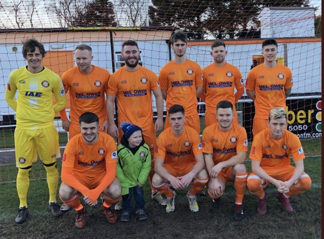 Conwy Borough line up before their game against Porthmadog