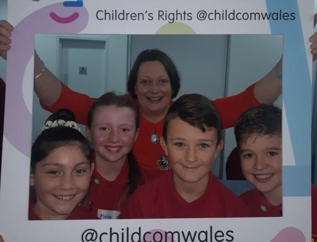 Children's Commissioner Sally Holland met with the school children