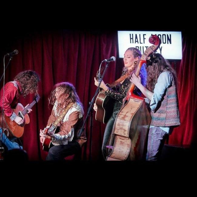 The Goat Roper Rodeo Band with Hannah Aldridge. Picture: Facebook/ Folk at the Hall