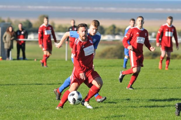 Ian Dunn scored in the second half for Prestatyn Sports