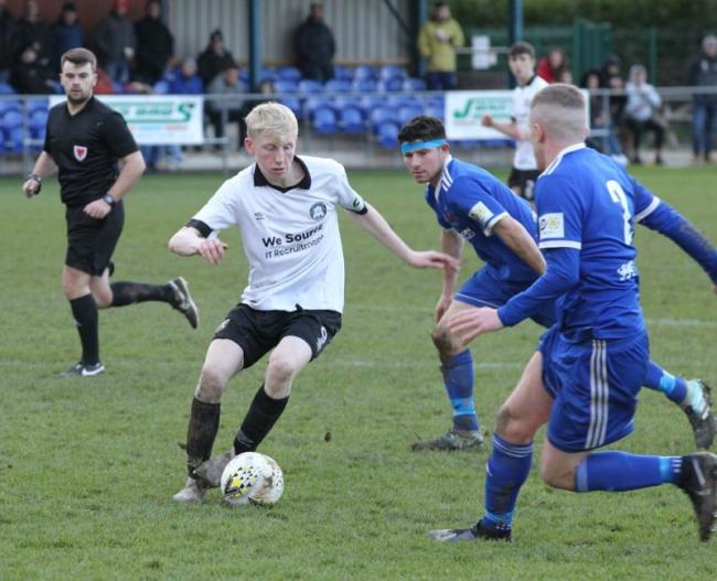 Mason Blackwell-Jones netted his first senior goal for Rhyl (Photo by Gareth Hughes)