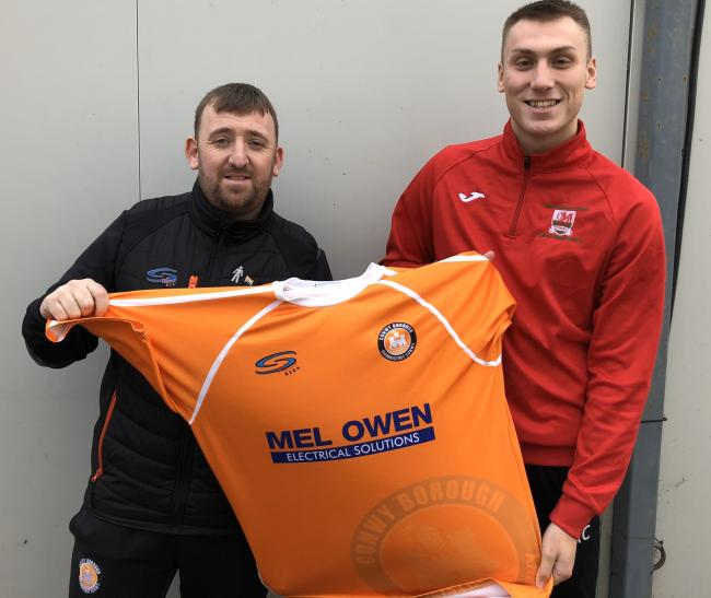 Aidan Clark has joined Conwy Borough from Bodedern Athletic