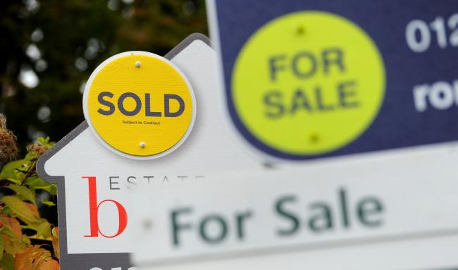 Across England and Wales, 33% of new home completions were sold off-plan, marking the lowest proportion since 2014 when the figure was 29%, Hamptons said. Photo credit should read: Andrew Matthews/PA Wire.