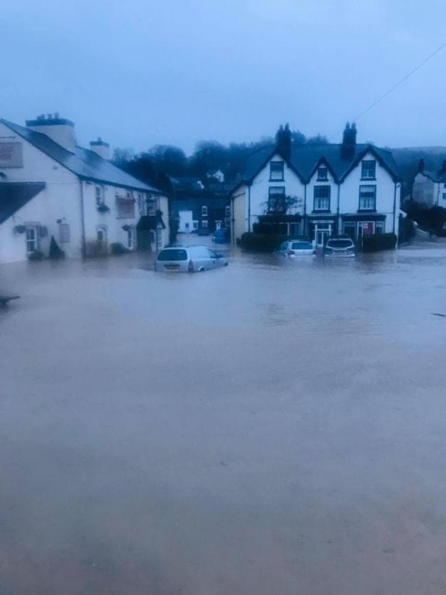 Llanfair TH was among one of the worst hit areas in the floods following Storm Ciara. Picture: Kim Cooper