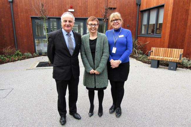 St Kentigern Hospice chief executive Iain Mitchell and clinical services manager Jane McGrath with Shian Hughes, from Edward Hughes Solicitors