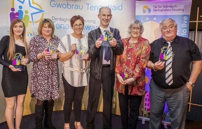 Winners of the Denbighshire Housing Awards in 2019