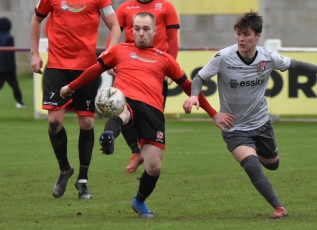 Ben Maher in action for Prestatyn Town last season