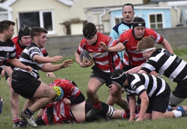 Action from Rhyl and District Youth's win at Llandudno (Photo by Paul Brookes)