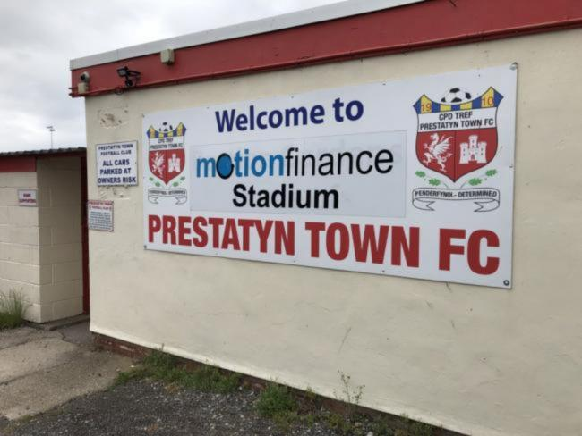 Prestatyn Town have finally received planning permission for their new TV gantry