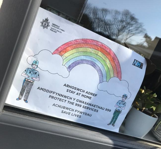 Rainbows are being put in windows to spread joy during Coronavirus outbreak