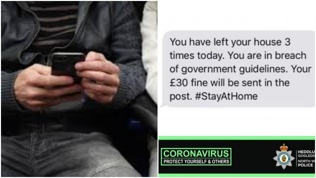 Police are warning of a coronavirus text message scam.