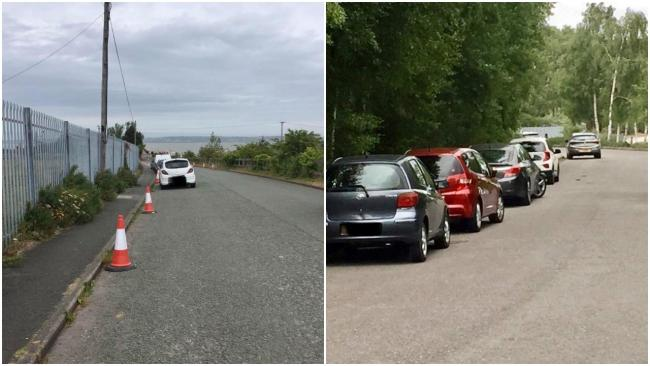Cars parked up at coastal 'hotspots' in Flintshire on Sunday. (Source - Flint Coastguard)