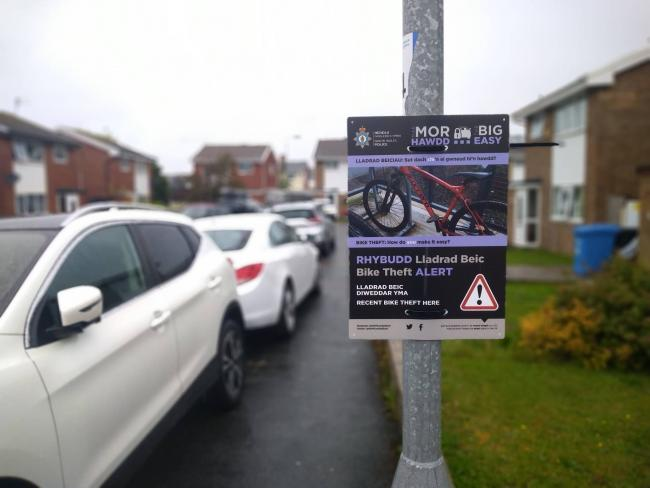 The sign installed in Grasmere Close, Prestatyn. Picture: Facebook/ NWP Community Safety Central