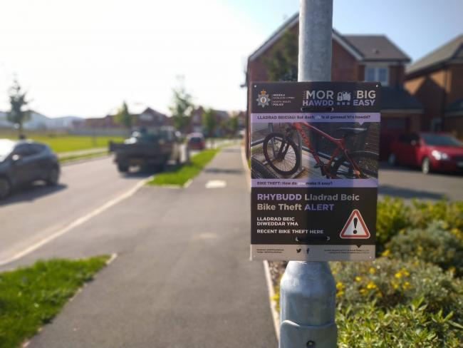 The sign installed in Ffordd Aberkinsey, Rhyl. Picture: Facebook/ NWP Community Safety Central