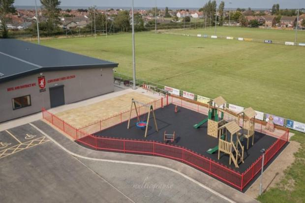 Rhyl and District formally opened their new playground in memory of John Hardy