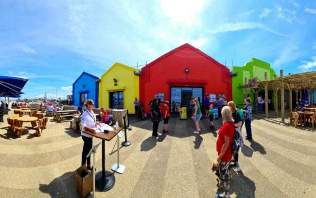 Hundreds enjoyed the good weather at the Beach Hut in Prestatyn