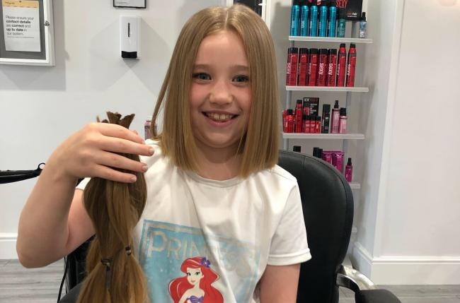 Emmie Walsh has cut her hair off for The Little Princess Trust.