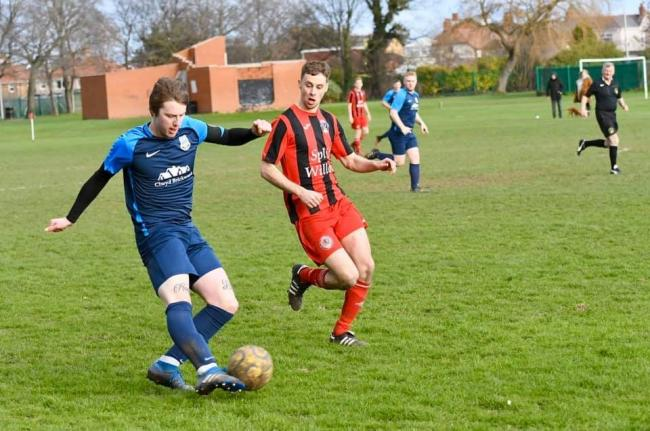 Jay Whitehouse in action for Rhuddlan Town last season