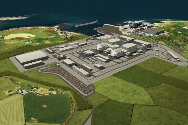 The proposed Wylfa nuclear power station