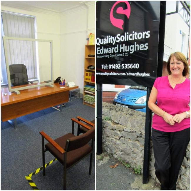 Colwyn Bay office and Jane Watson