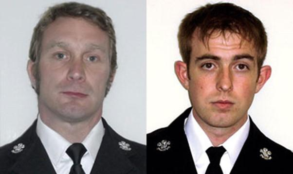 PC Matthew Reynolds and PC Richard Shea