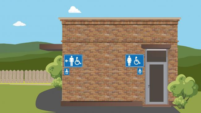 Some public toilets have closed. Picture: Conwy County Borough Council