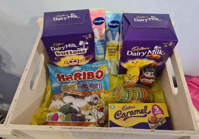 Some of the Easter treats given to youngsters by Rhyl shop Personalise a Memory