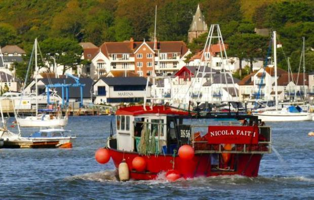 The Nicola Faith fishing boat pictured at Conwy harbour. Picture: Roger Fox