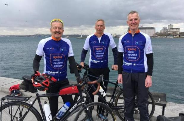 Rhyl Journal: Roger Thomas, Andy Fowell and Stephen MacVicar in 2019. PICTURE: Facebook.