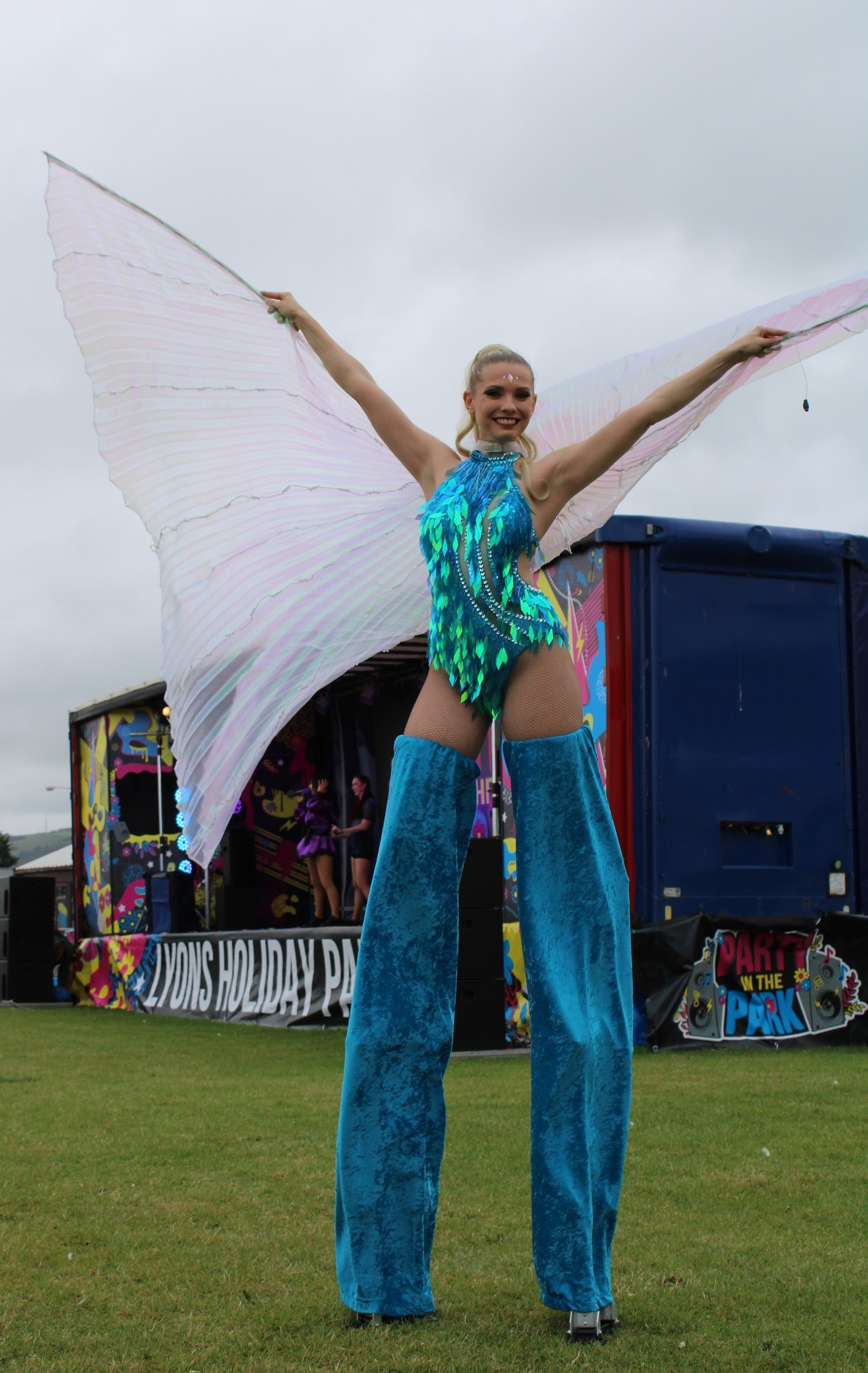 Entertainers were back to doing what they do best! All pictures: Lyons Robin Hood in Rhyl