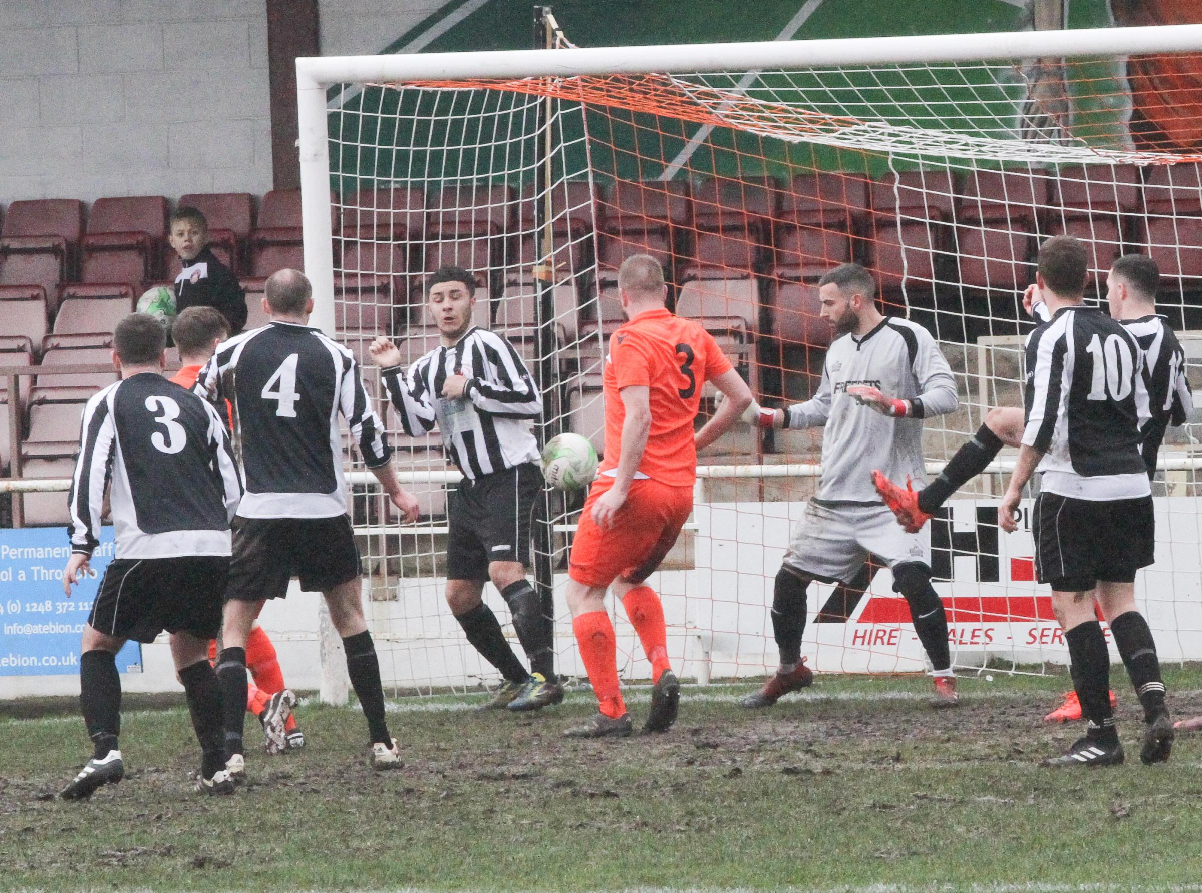 Conwy Borough reached the final four of the FAW Trophy (Photo: Kerry Roberts)